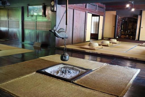 Gifu Prefecture Shirakawago in the grand building