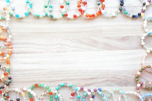 Power Stone Bracelet and Wood Background Material