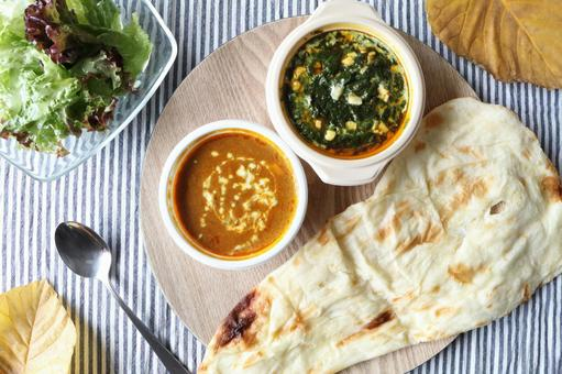 Indian curry and naan (2)