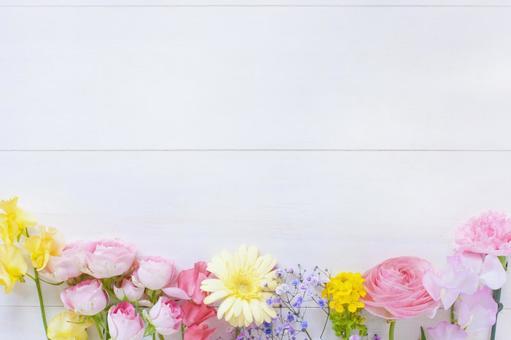 Frame of spring flowers