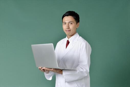 Male in a white suit with a PC 6