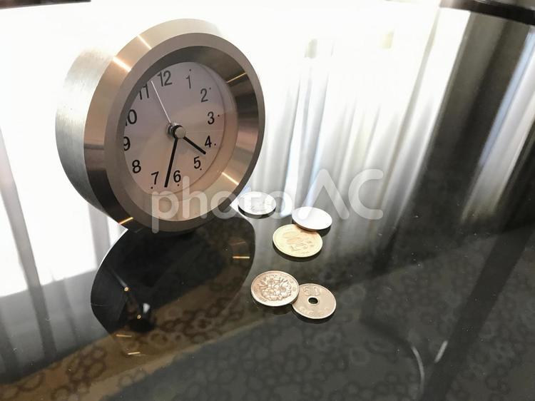時は金なり(日本円ー硬貨)の写真