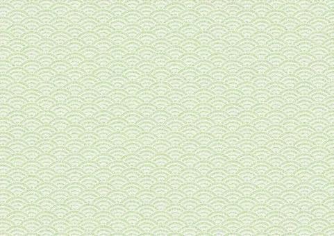 Chirimen Qinghai wave pattern (green)