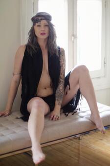 Female in black dress 4