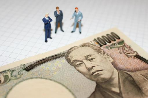 A businessman who thinks it as a 10,000 yen note