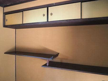 Japanese-style room difference shelf