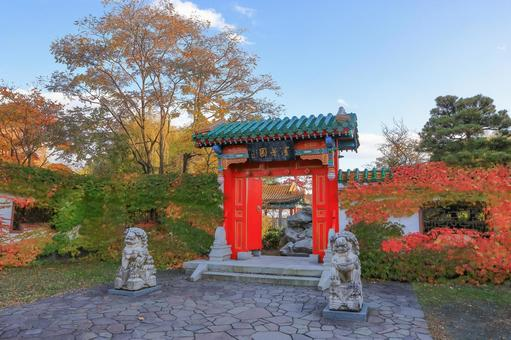 Yurigahara Park Entrance of the world's garden, Shenhoen Autumn leaves season
