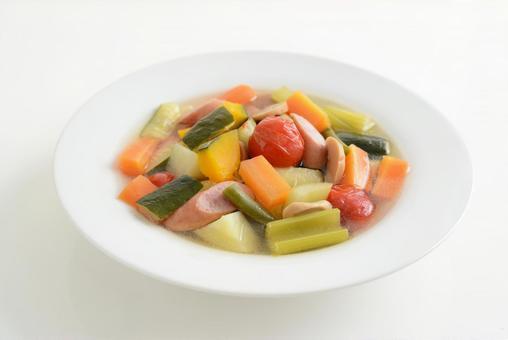 먹음직스러운 야채 스프