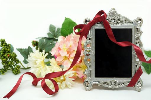Antique silver frame (with background)