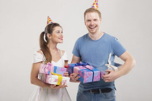 Couple making a party 2
