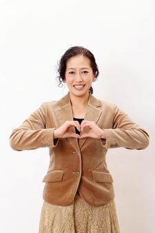 Female heart mark