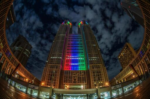 Tokyo Metropolitan Government Office (Olympic · Paralympic Color Light Up) 2
