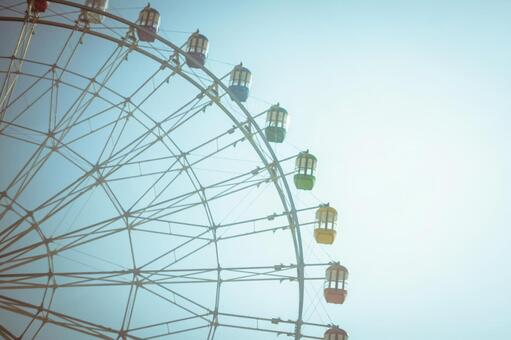 Ferris wheel with an old image