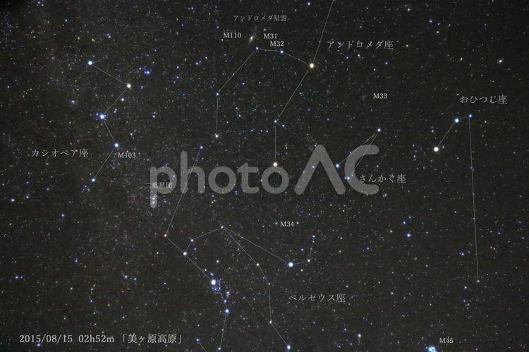 夏の星座の写真