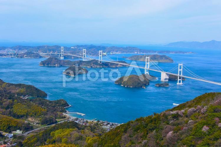 晴れたしまなみ海道の写真