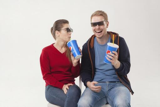 Couple seeing 3D movies 11