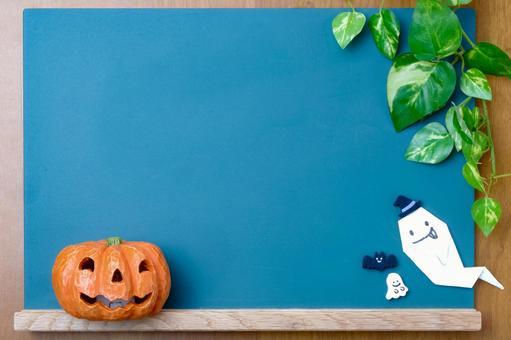 Halloween blackboard frame