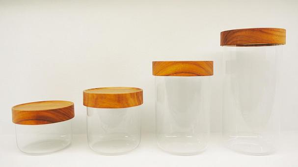 Glass container canister