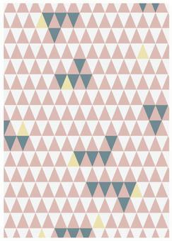 Scandinavian design pink triangle