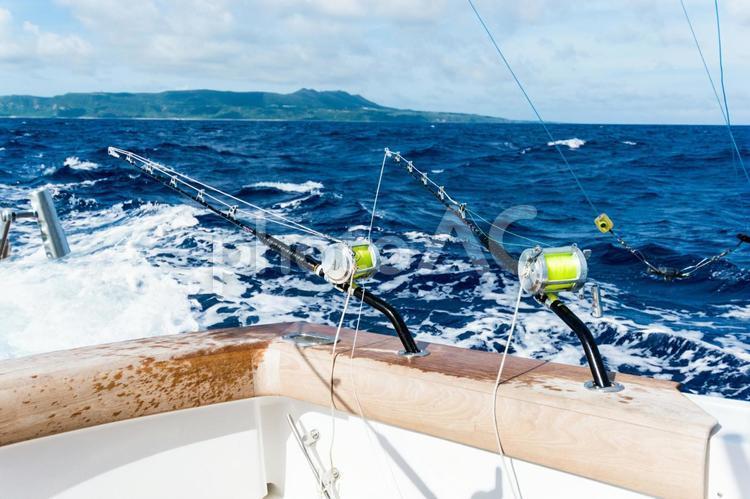 久米島でカジキ釣りの写真