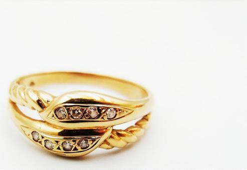 Gold diamond ring jewelry image