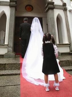 Wedding bride entrance