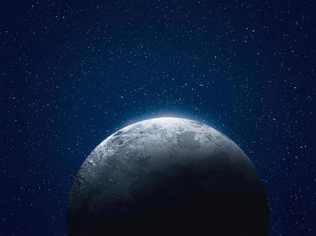 Moon and space