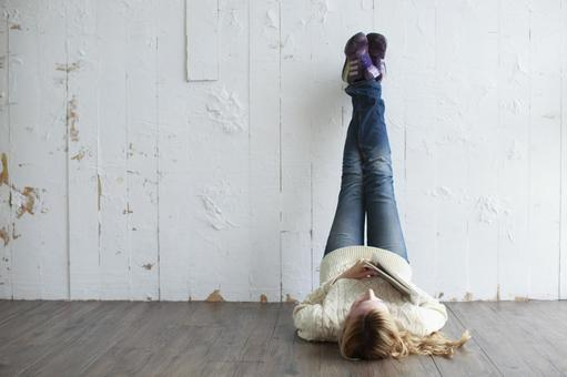 휴식하는 여성 5