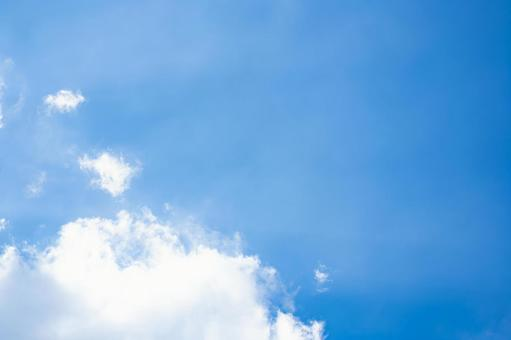 Blue sky and white clouds Copy space background material