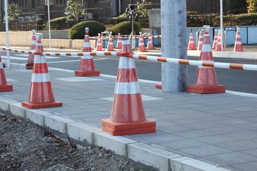 Triangular cone · color cone road construction ②
