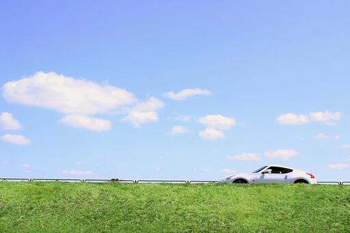 景觀與一輛車