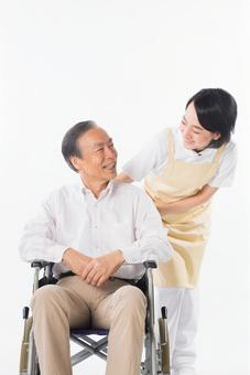 Men and nurses on a wheelchair 25