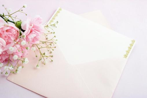 Message card and bouquet