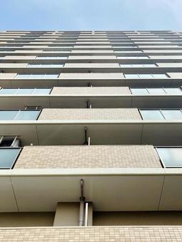 High-rise condominium veranda real estate image
