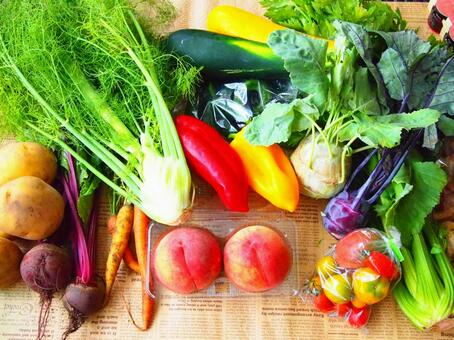 Vegetables in the plateau