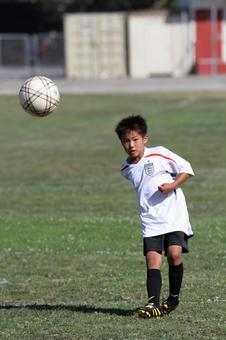 Soccer practice match