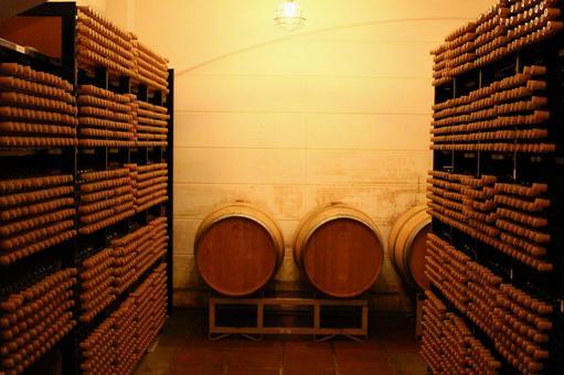 在釀酒廠陳釀的葡萄酒