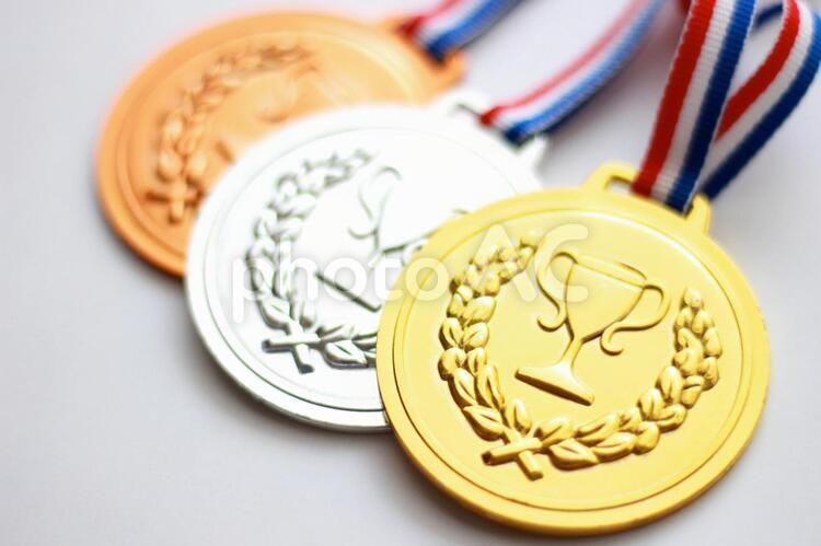 金銀銅のメダル3の写真