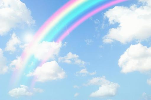 Blue sky_rainbow_58