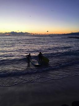 Hawaiian landscape (112) beach at sunset