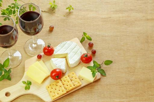 Cheese and wine background