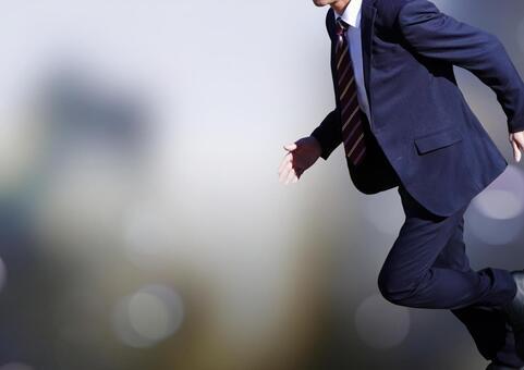 Businessman's sprint