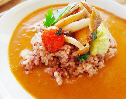 잡곡 쌀 야채 카레 [음식 · 요리]