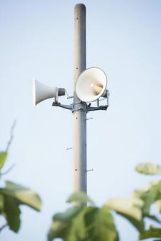 城鎮廣播的揚聲器