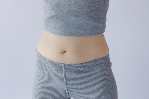 Adult female middle-aged waist abdomen body parts