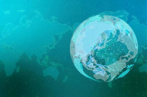 에메랄드 디지털 네트워크 이미지 배경