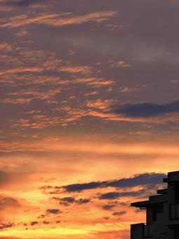 居住區的落日天空