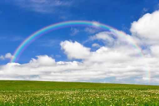 Rainbow and prairie