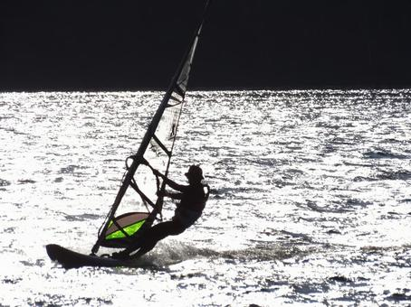 Board sailing