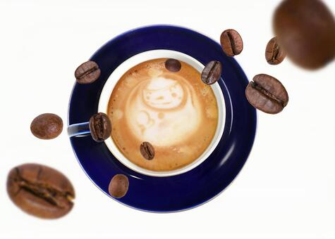 커피 내리는 커피 라떼 (콩 시선)